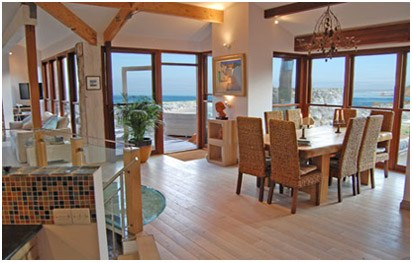 Luxury Self Catering Home Cornwall Living Area